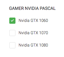 Filtre Nvidia Pascal