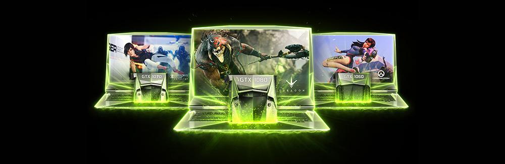 PC portable Nvidia GeForce GTX 1060 1070 1080