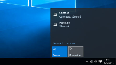 Mode avion Windows 10