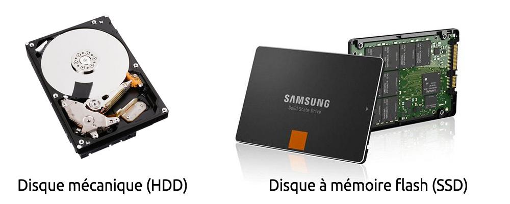 Disque dur mécanique vs Disque dur à mémoire flash SSD