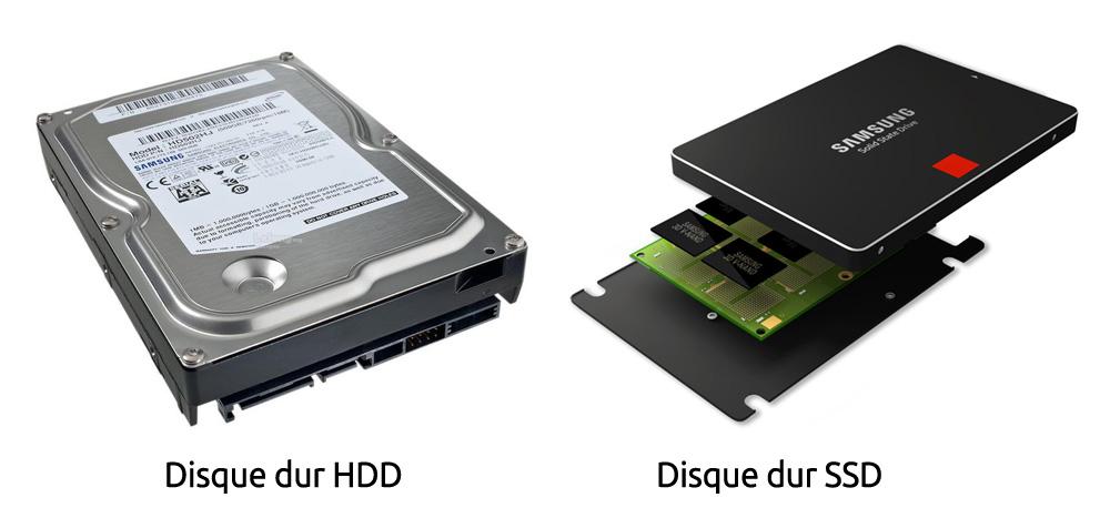 Disque dur mécanique (HDD) ou à mémoire flash (SSD)