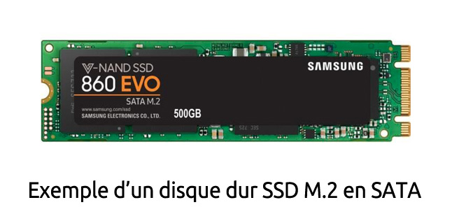 Disque dur SSD M.2 en SATA